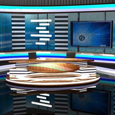Newsroom Studio 002 (for Poser)