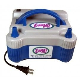 Zoom. A great reliable balloon inflator. Save your breath! A must have for creating air filled balloon arch and columns.