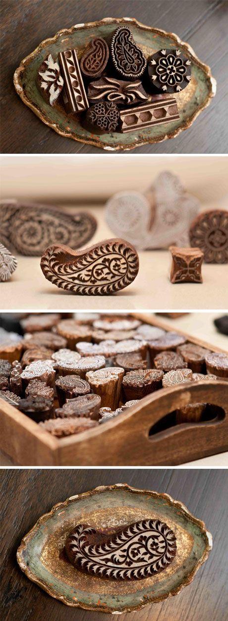 paisley woodblocks - fair trade store