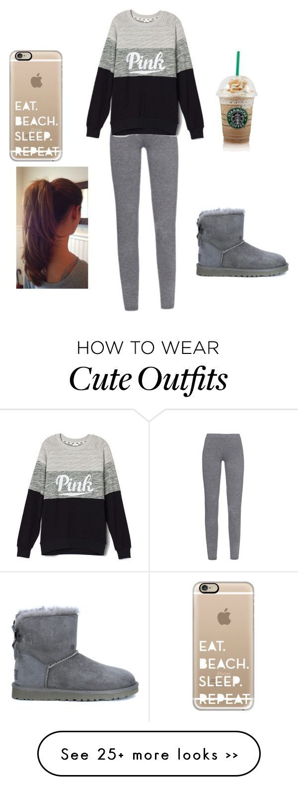 Winter outfit by kimberlylovesbatman on Polyvore featuring MaxMara, UGG Australia and Casetify