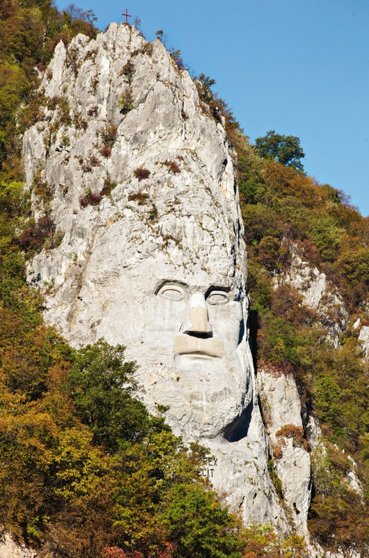 Decebal's head. #IronGates, #Romania #travel #vantagetravel #rivercruise