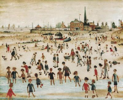 At the Seaside Art Print - LS Lowry