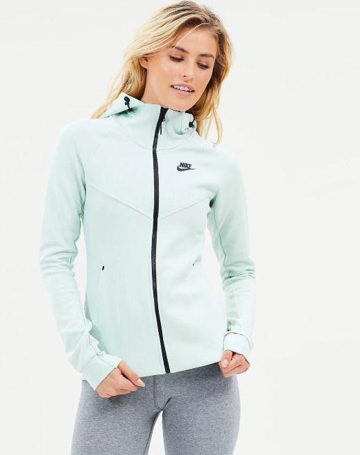 629c24a8ec66 Nike Sportswear Tech Fleece Womens Hoodie Grey Black Size S Zip Up  Windrunner  Nike