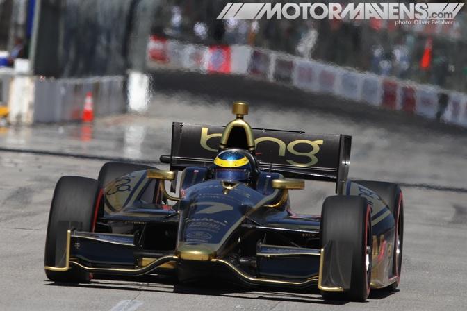 Sebastien Bourdais, in the Lotus Dragon Racing car