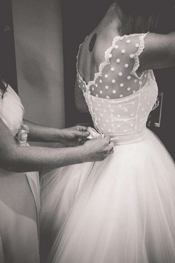 Polka Dot Tulle 1950s Dress Bride Bow Belt Vintage Tea Party Tipi Wedding  http://lovethatsmilephotography.com/