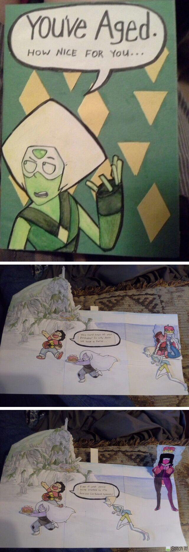Amazing Steven Universe birthday card