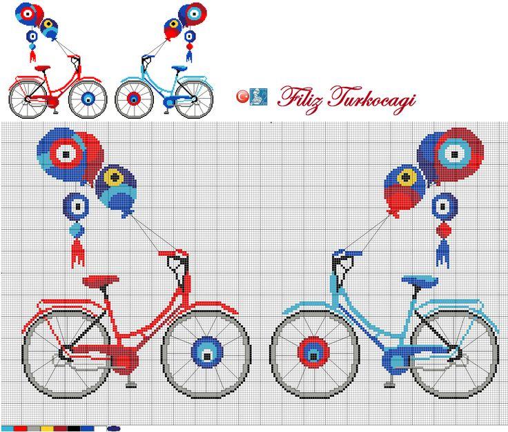 Nazar boncuğu çalışmalarına gelmişken, bir tasarım daha paylaşayım sizinle...Hangisini isterseniz...Designed by Filiz Türkocağı...( Turkish evil eye )