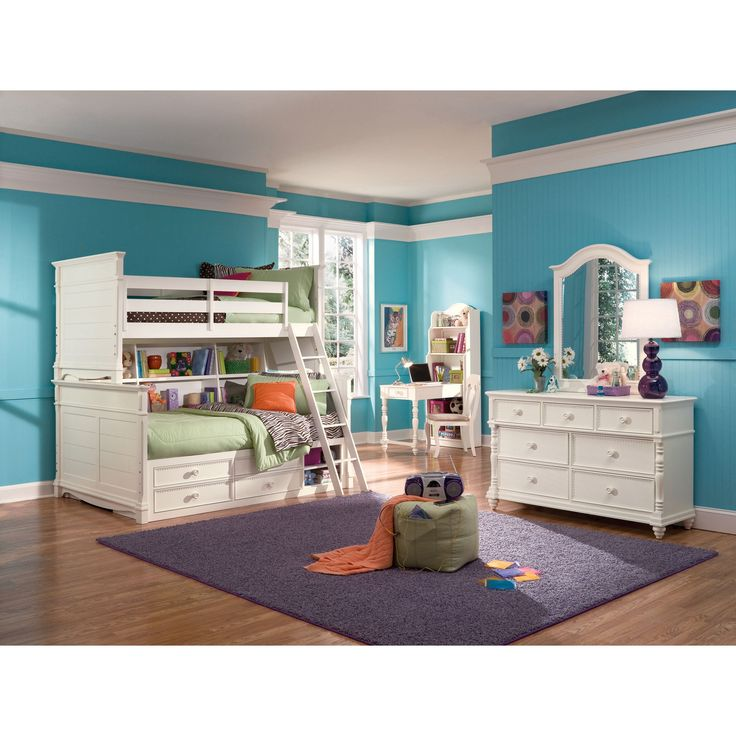 Have to have it. Hannah Twin over Full Bookcase Storage Bunk Bed $2100.00