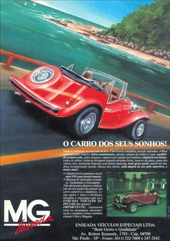 ENSEADA - MG 1989 - O carro dos seus sonhos - Réplica do MP Lafer