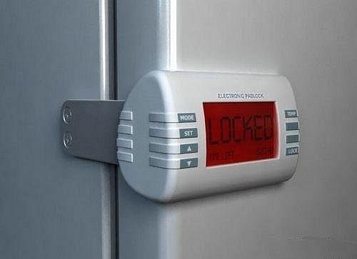 Fridge timer lock