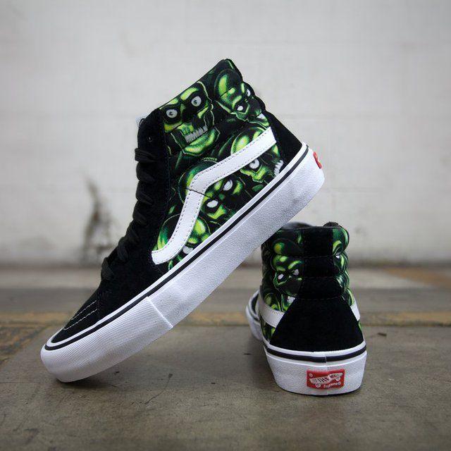 f301185b024013 Supreme X Vans Sk8-Hi Pro Skull Pile SS18 Sneakers