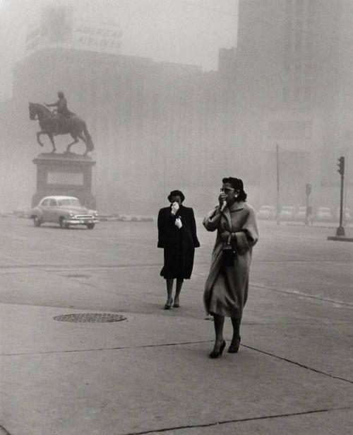 Rodrigo Moya :: Dust Cloud, Mexico City, 1958