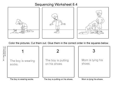 Tie Shoes Worksheet