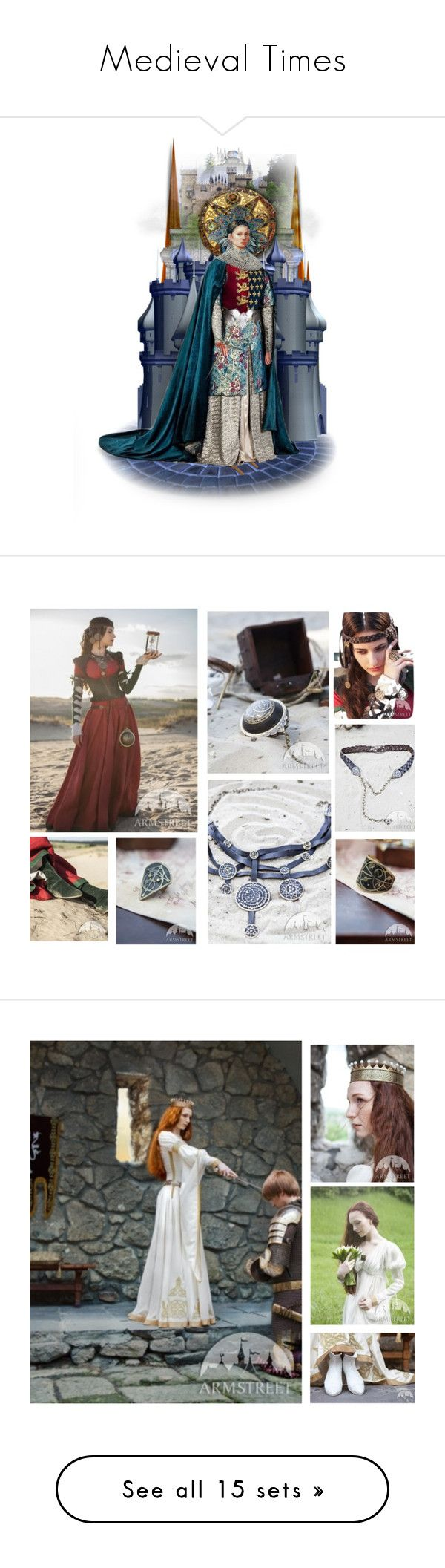 """""""Medieval Times"""" by enchanticals ❤ liked on Polyvore featuring art, beauty, Sophie Theallet, Notte by Marchesa, AllSaints, Nearly Natural, renaissance, medieval, artwork and René Caovilla"""