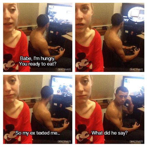 Oh my god I'm so going to do this to my husband when he's too focused on his video games than his pregnant wife cleaning who need helps at times lmao!!