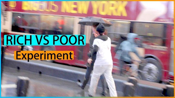 RICH VS POOR Offering Umbrella Experiment (Social Experiment)