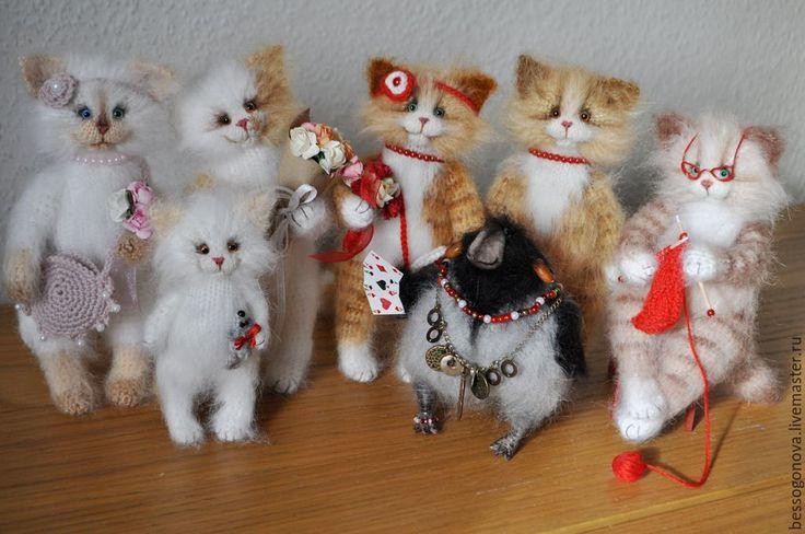 Купить Рыжая кошка кокетка - кошка, кот, Игрушка кошка, кошка игрушка, кошка из шерсти
