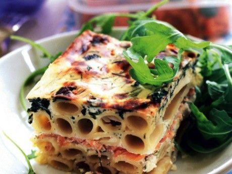 Lyxig fredagslåda med pasta och lax