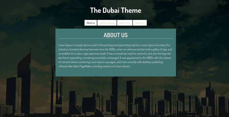 Simple website design for a company located in Dubai.