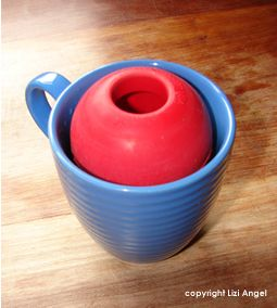 "Frozen ""Dog Smoothies"" in a Kong! ~~ I blend a banana, a few spoonfuls of peanut butter and water or almond milk, then pour them into a kong (in a cup). Freeze and pull out later as a treat that will keep your dog busy! A batch with 1 banana usually makes 2 kongs at least. With leftover smoothie, freeze in an ice tray as quicker treats. This site also has good ideas for recipes."