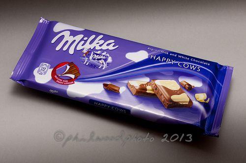 283:365:2013 - Happy Cows Milka Alpine Milk and White Chocolate. Yummy!