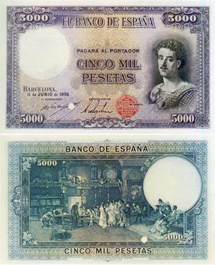 El billete no emitido de 5.000 pesetas (1938) | numismaticodigital.com