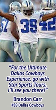 2013 Dallas Cowboys Football Game Schedule - Star Sports Tours - The OFFICIAL Fan Travel Partner of the Dallas Cowboys