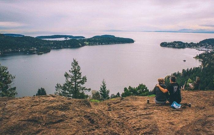 Hiking Soames Hill Trail in Gibsons Sunshine Coast BC British Columbia Canada