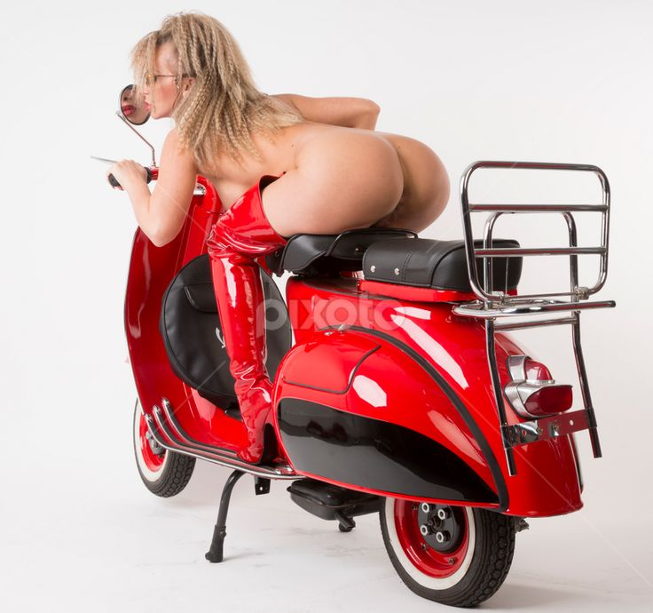 sexy woman on moped