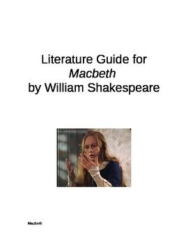 This whole unit on Macbeth by William Shakespeare includes anticipation guide, vocabulary, writing assignments, role play activities, centers activities, essay questions, a unit exam and a final project.
