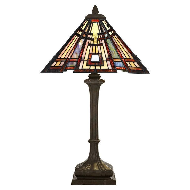 This Elstead Tiffany Classic Craftsman Table Lamp Features Wonderful Red  Wine Tones In A Very Intricate