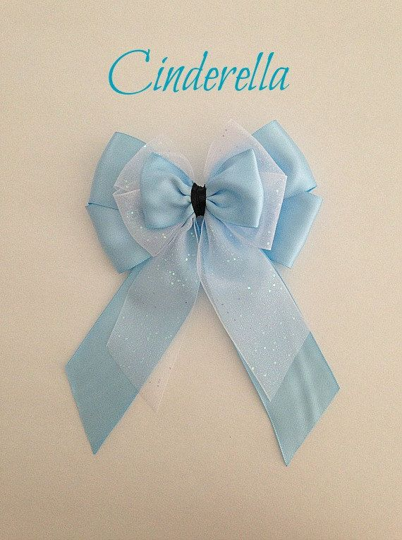 Disney inspired Cinderella princess hair bow by BellaRayneDesigns2, $9.50