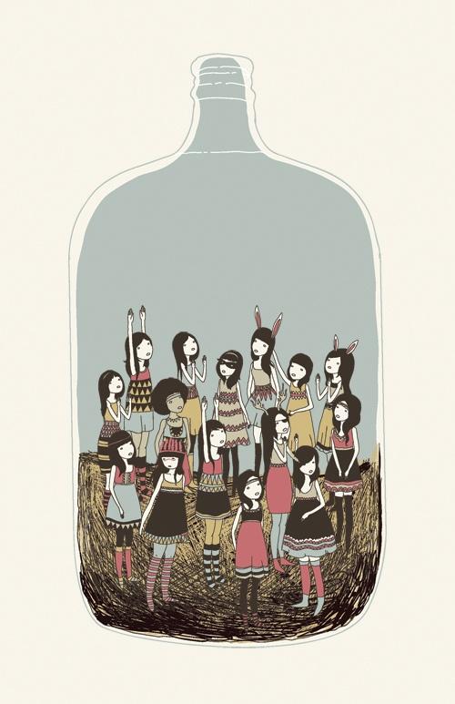 Yasmine Surovec / People in a jar @Michele Tassin Ozaslan (bizim sular da böyle mi acaba)