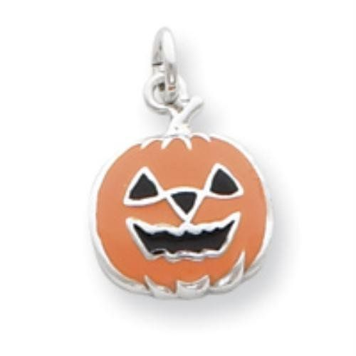 Sterling Silver Orange Jack-a-Lantern Charm goldia. $30.28