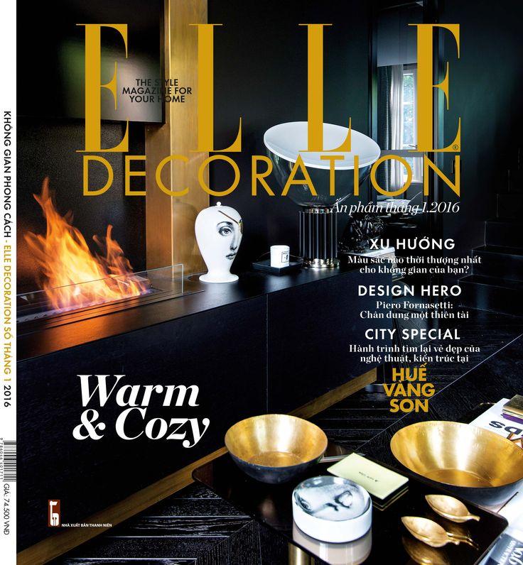 Cover!! ELLE DECORATION VIETNAM  #interiordesigners #damonteelacarrieu #design #interiors #homedecoration #frenchriviera #cotedazur #sainttropez Fornasetti  Flos  Tom Dixon