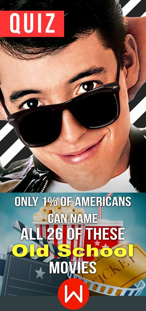 Old School Movies trivia Quiz. So do you think you know all of the best Old School movies? Ferris Bueller is a classic but what about the other Old School characters? Let's see how you old school knowledge is doing today! Old School Movie quiz. Movie game. Pop Culture Trivia Quiz.