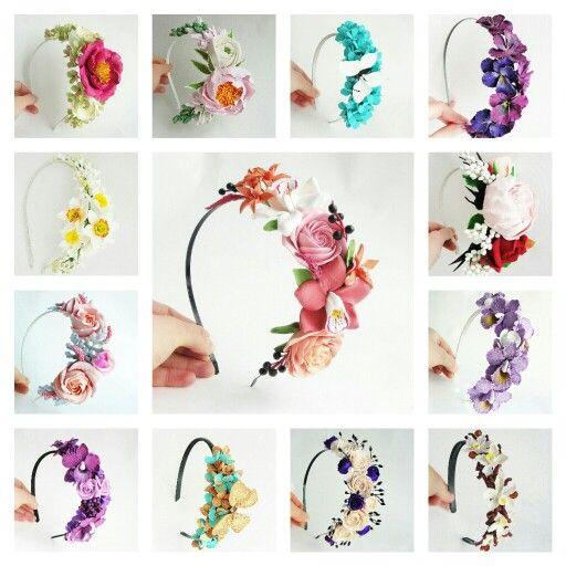 Headband. Handmade. Handcrafted. Hair accessories. Wedding. Handmade flowers. Flowers. Wedding accessories. Wedding flowers.