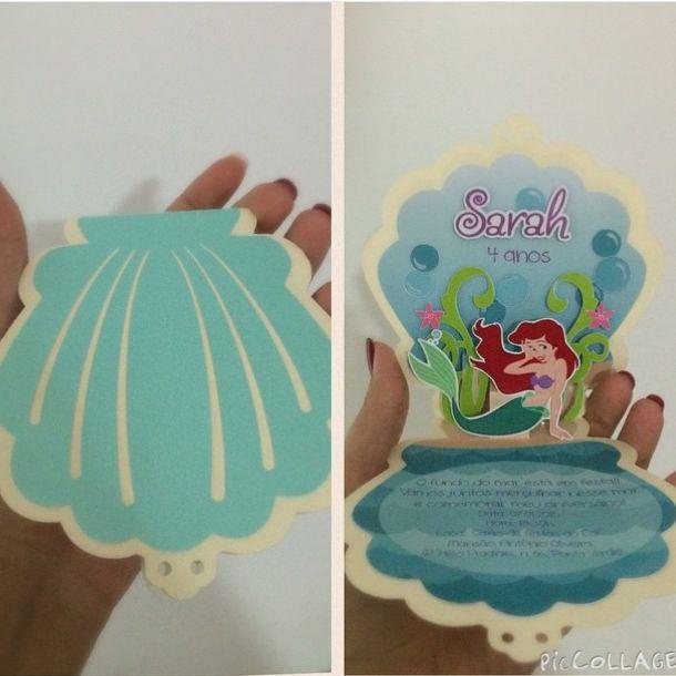 Convite Ariel - Little Mermaid
