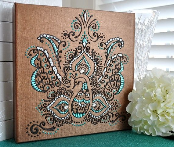 i enjoy the henna design on this canvas. I love it!! I want to do something very similar. I want to adapt this style to mine to create something unique.