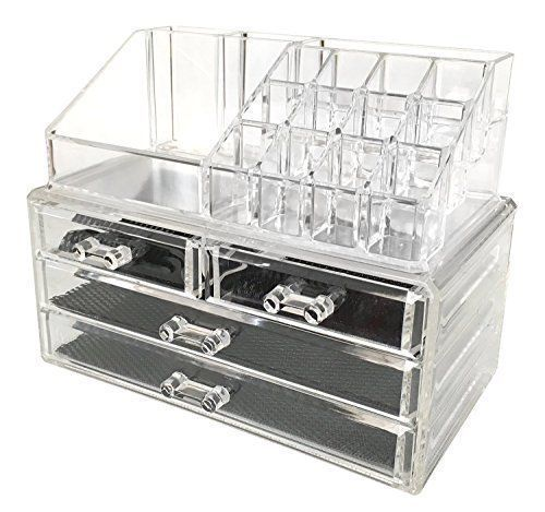 Cosmetic Makeup Storage Clear Acrylic Jewelry Drawers Display Organizer Box NEW #CosmeticMakeupStorage
