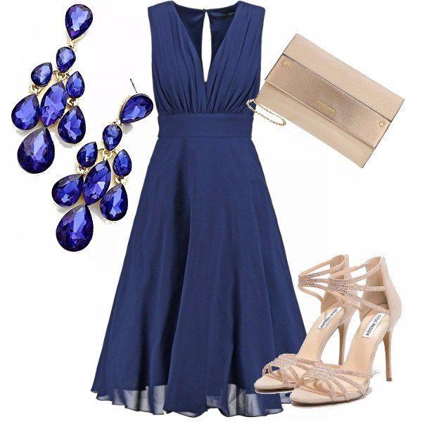 Trucco per un vestito blu xl