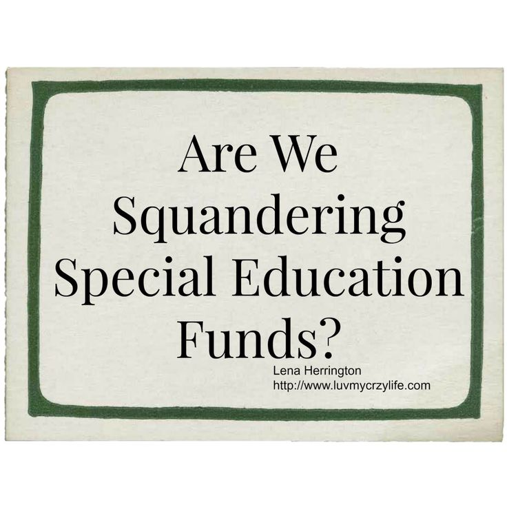 If Special Education Departments are getting so much money, why do they always need more? Are we squandering those funds? How is it being spent?