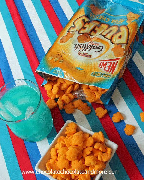 Fish Bowl Punch and Goldfish Puffs