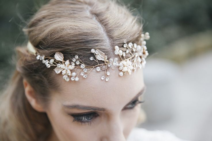 Swarovski Crystal Bridal Halo Headpiece