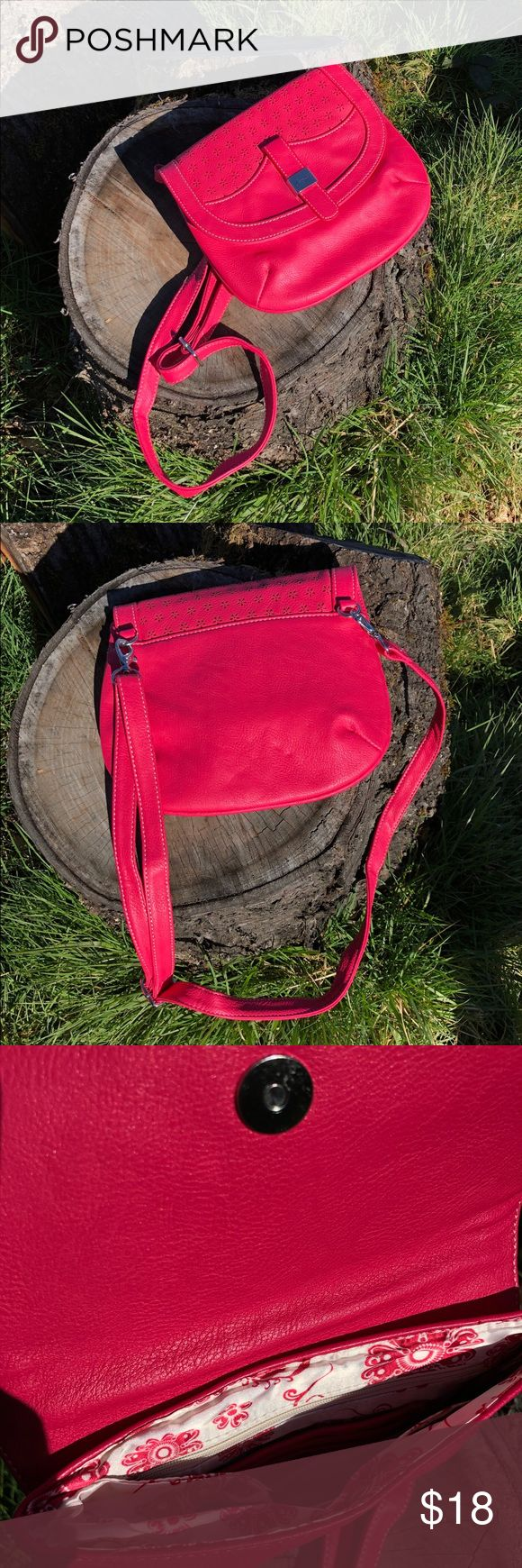 Grace Adele New crossbody purse Finally a sunny day to take pictures outside! 👏🏼👏🏼💐  NWOT Grace Adele hot pink crossbody. This is very cute and trendy little purse. It's in perfect condition since is brand new. Reasonable offer please. Thanks! Grace Adele Bags Crossbody Bags