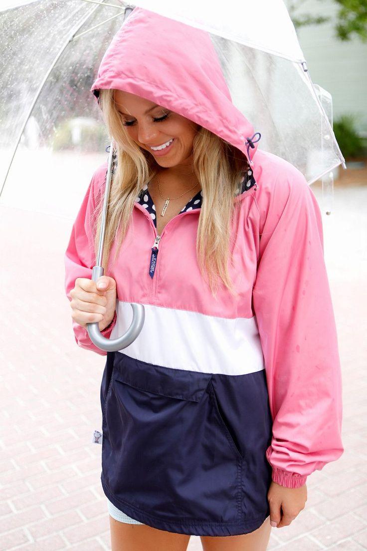 JLB Preppy Pullover Rain Jacket - Pink Neapolitan