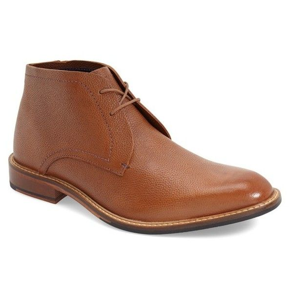 Men's Ted Baker London 'Torsdi 4' Chukka Boot (190 AUD) ❤ liked on Polyvore featuring men's fashion, men's shoes, men's boots, tan leather, mens chukka boots, mens shoes, mens tan leather boots, mens chukka shoes and mens tan boots