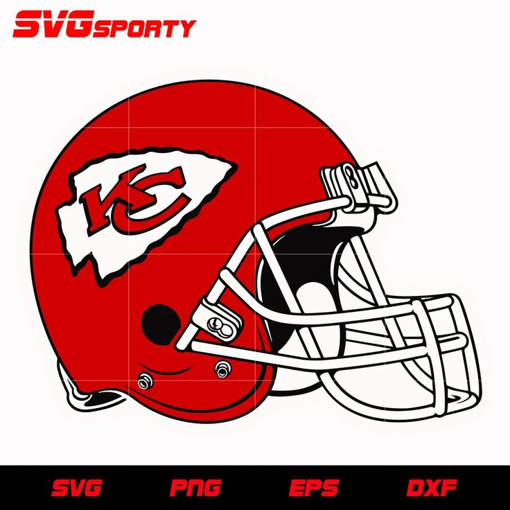Kansas City Chiefs Helmet svg, nfl svg, eps, dxf, png
