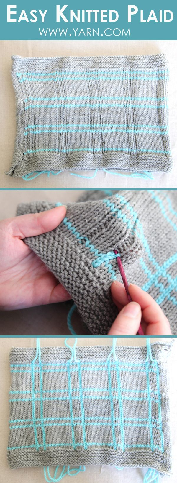 Technique | Create easy knitted plaid with this simple technique!