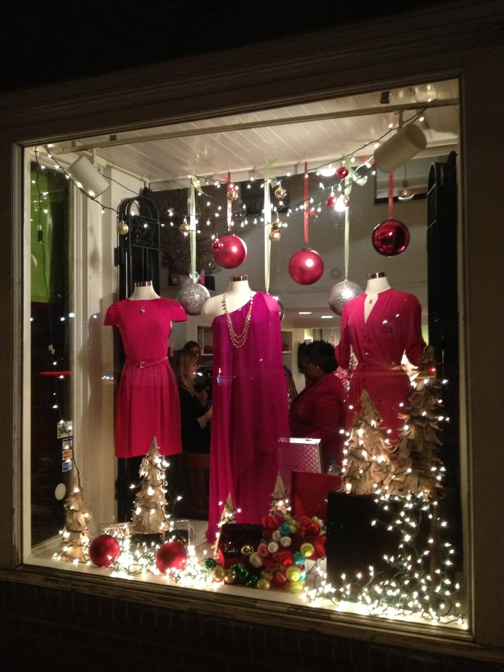 Holiday window display work pinterest ornaments for Retail store window display ideas